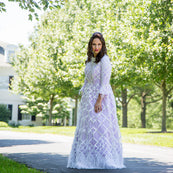 Asher Maxwell Lattice Gown