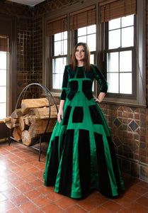 Asher Maxwell Defined Emerald  Gown