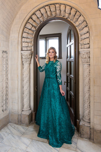 Emerald Enchanted Ballgown