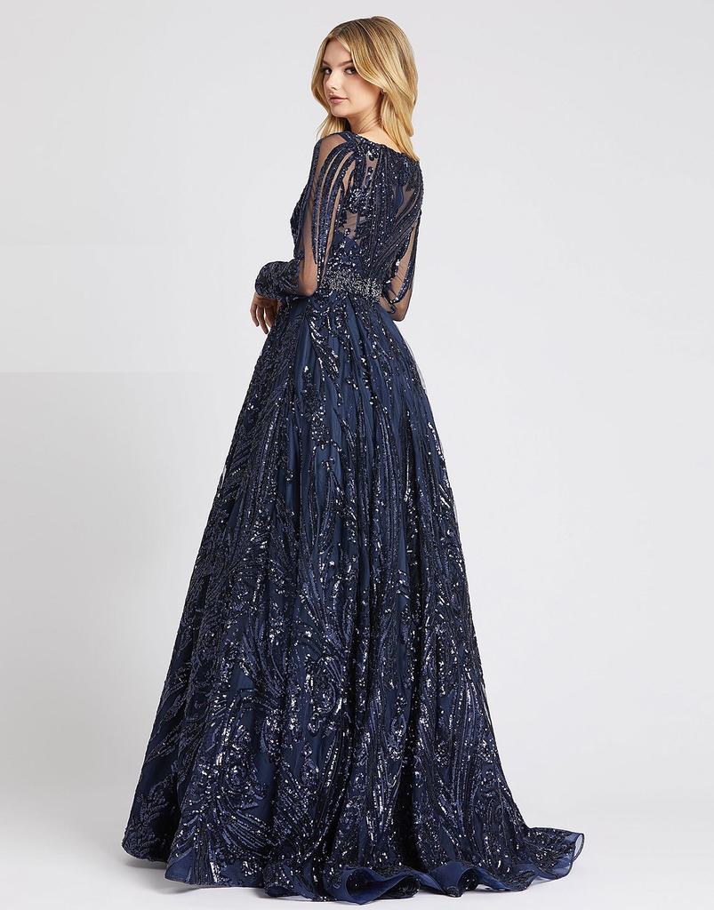 Midnight Beaded Sparkle Gown