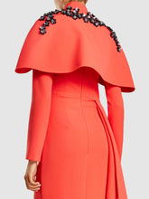 Embellished Ruffle Detail Crew  Gown