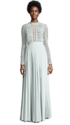 Lace Pleated Gown