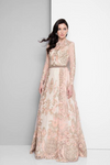 Embroidered Blush Regal Ball Gown