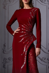 Structured Wine Gown