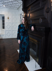 Silk Tie Neck Gown