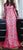 Hot Pink illusion mesh modest gown