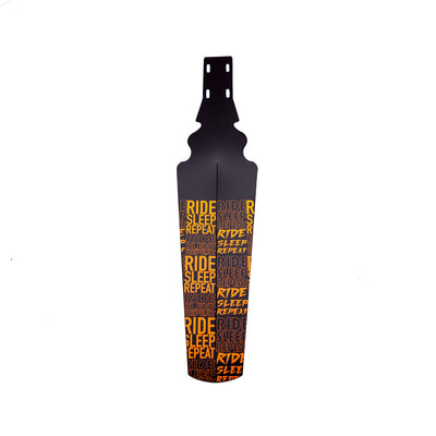 35Bikes Ride Sleep Repeat Rear Mudguard Orange - Made In The UK