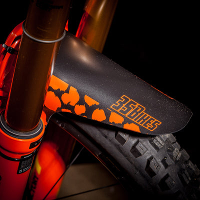 35Bikes Wild Style Front Mudguard Orange - Made In The UK