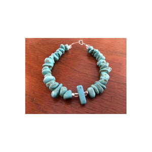 """Beach Babe"" Turquoise & Silver Bracelet"