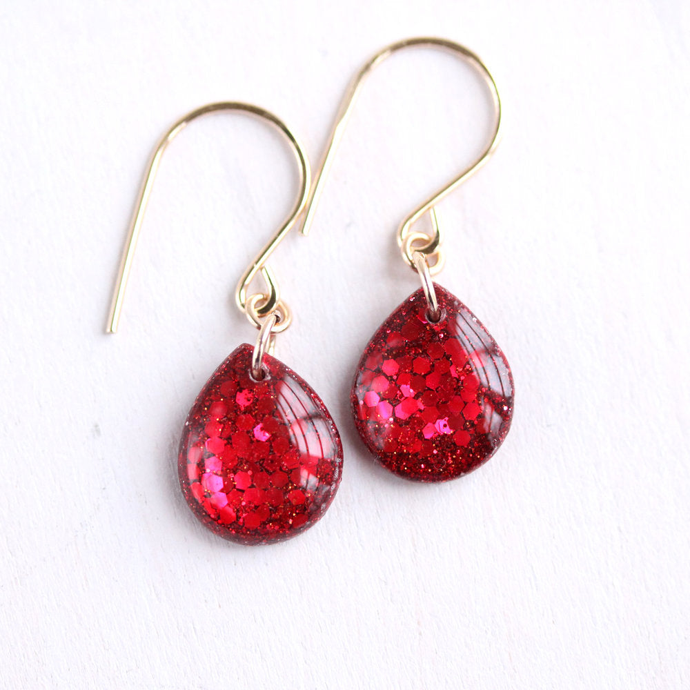 TINY GALAXIES CANDY APPLE GLITTER TEARDROPS