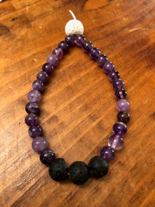 Infusion Mala Bracelet with Amethyst
