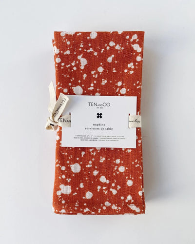 Everyday Napkins Set of 4 - Splatter, Rust