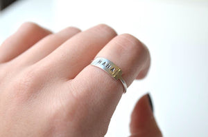 Mama Stamped Ring