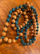 Blue Apatite Mala Necklace