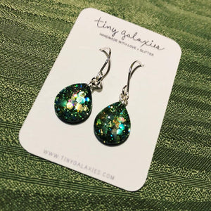 Tiny Galaxies Green Emerald Teardrops