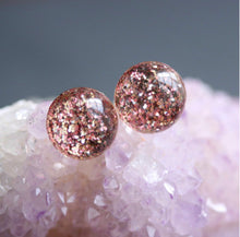 Tiny Galaxies ROSE GOLD GLITTER Studs