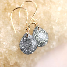 Tiny Galaxies Silver Glitter Teardrops