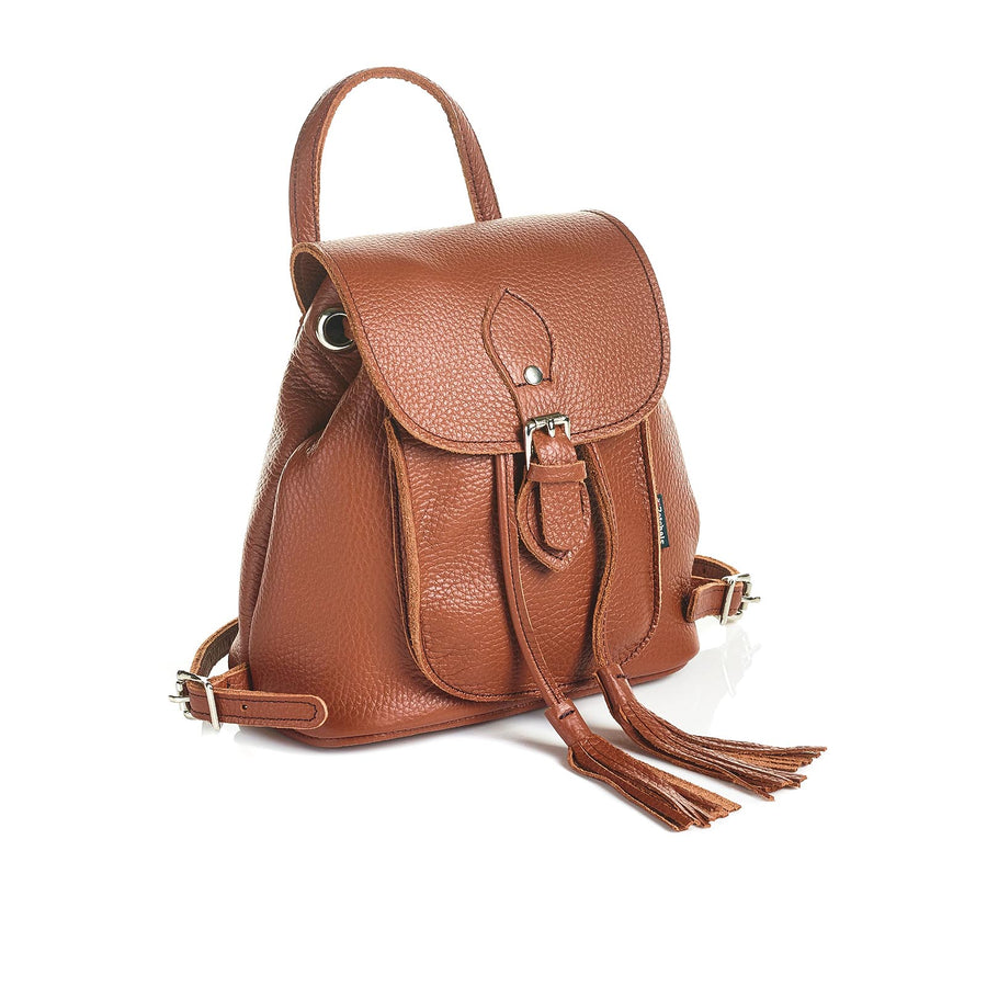 Russet Brown Leather Backpack - Backpack - Zatchels