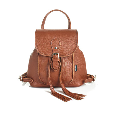 Russet Brown Leather Backpack