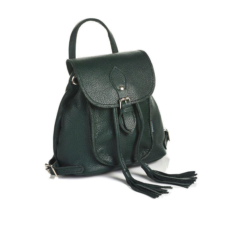 Ivy Green Leather Backpack