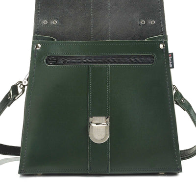 Ivy Green Leather Cross Body Bag - Cross Body Bag - Zatchels