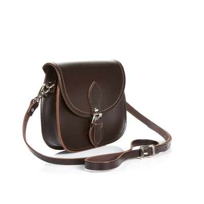 Dark Brown Leather Micro Saddle