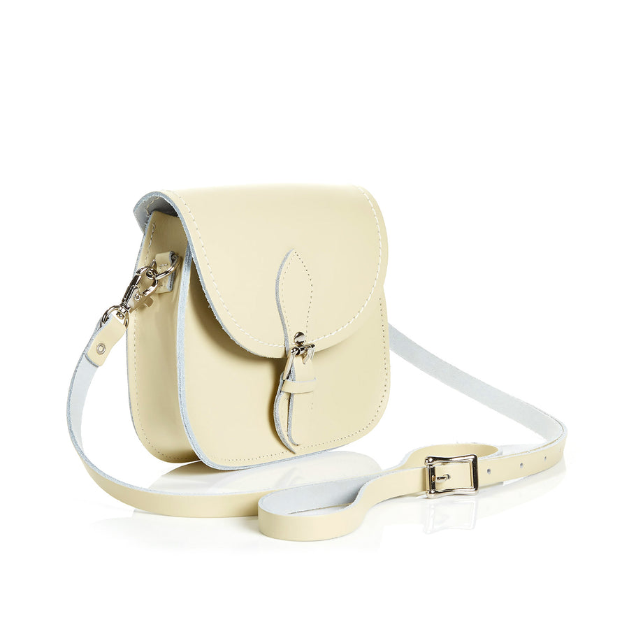 Pastel Cream Leather Micro Saddle