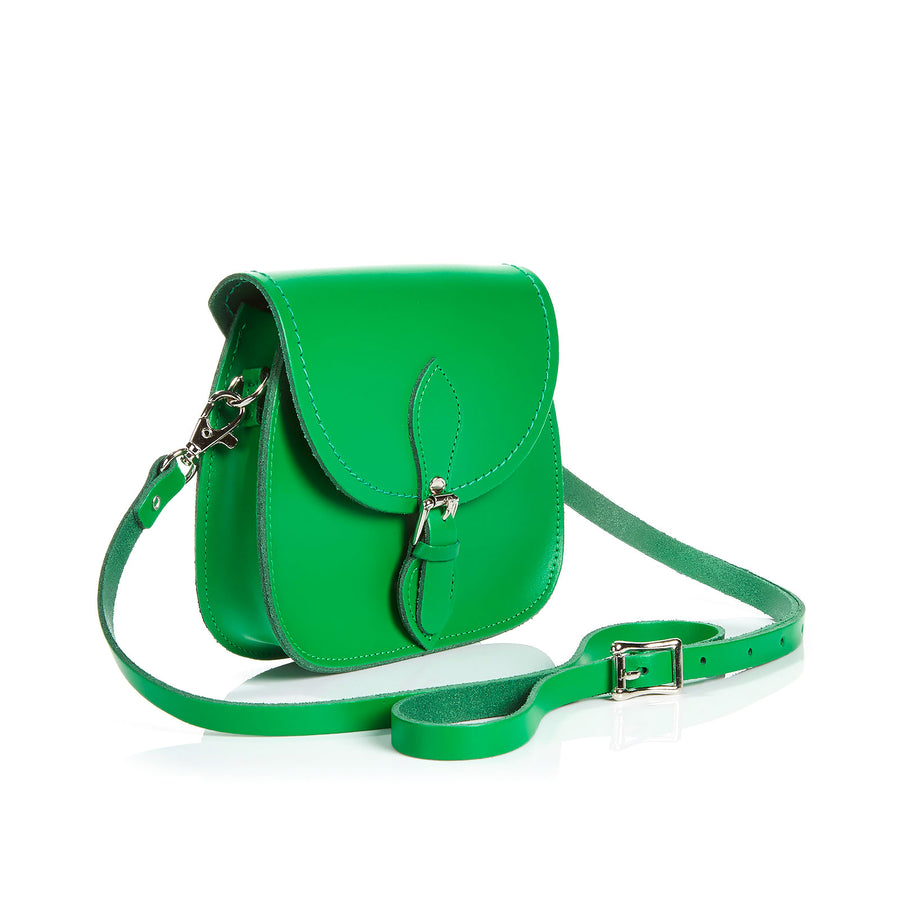 Green Leather Micro Saddle