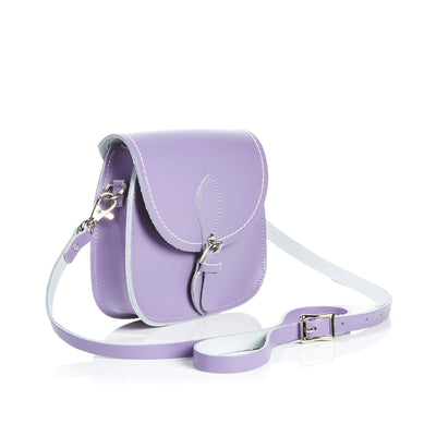 Pastel Violet Leather Micro Saddle