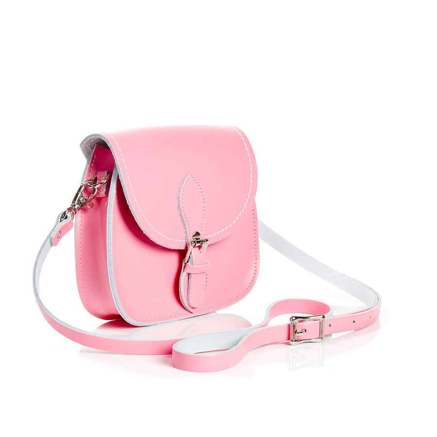 Pastel Pink Leather Micro Saddle