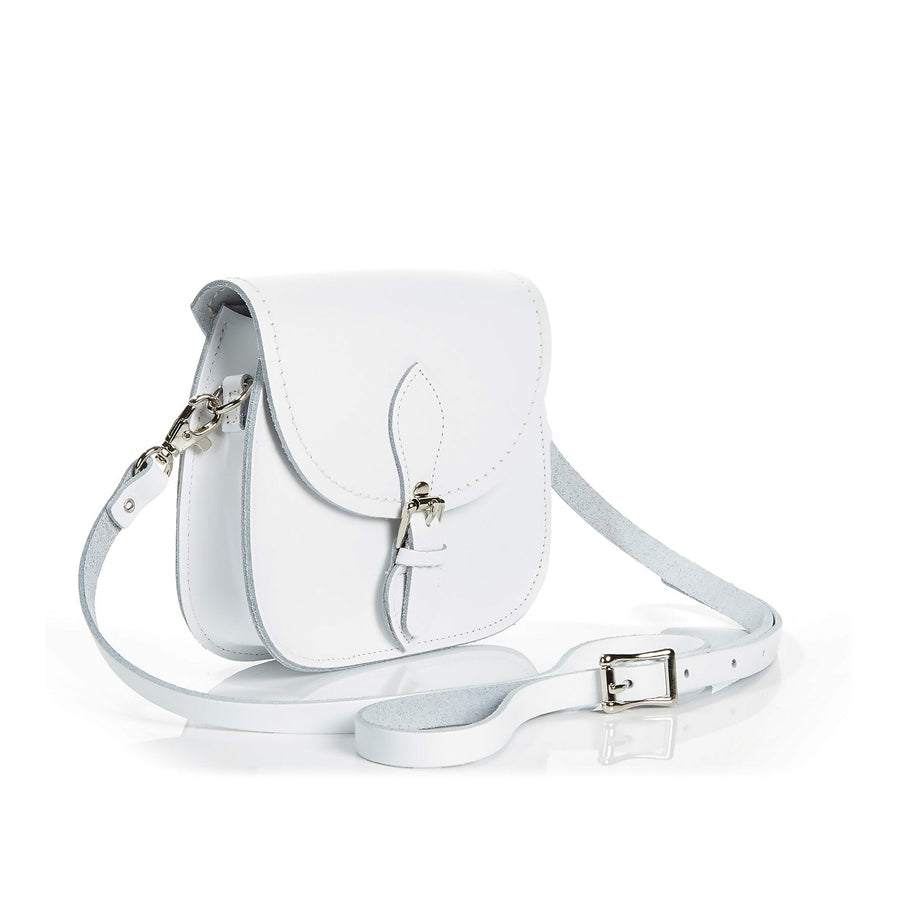 White Leather Micro Saddle