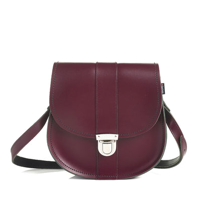 Marsala Red Leather Saddle Bag