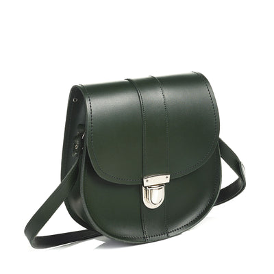 Ivy Green Leather Saddle Bag