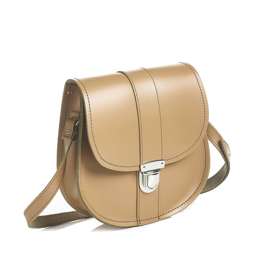 Iced Coffee Leather Saddle Bag
