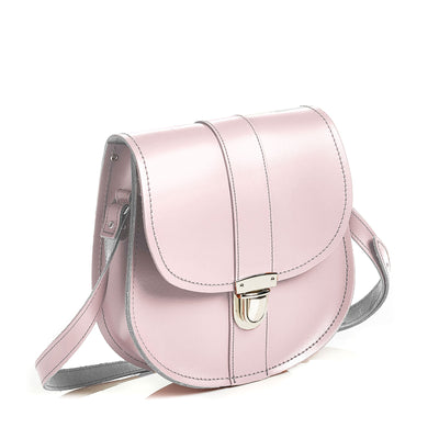 Rose Quartz Leather Saddle Bag - Saddle Bag - Zatchels