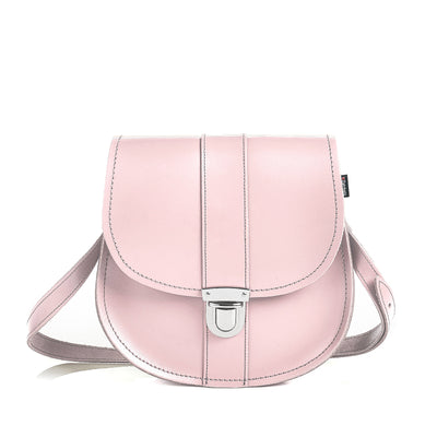Rose Quartz Leather Saddle Bag