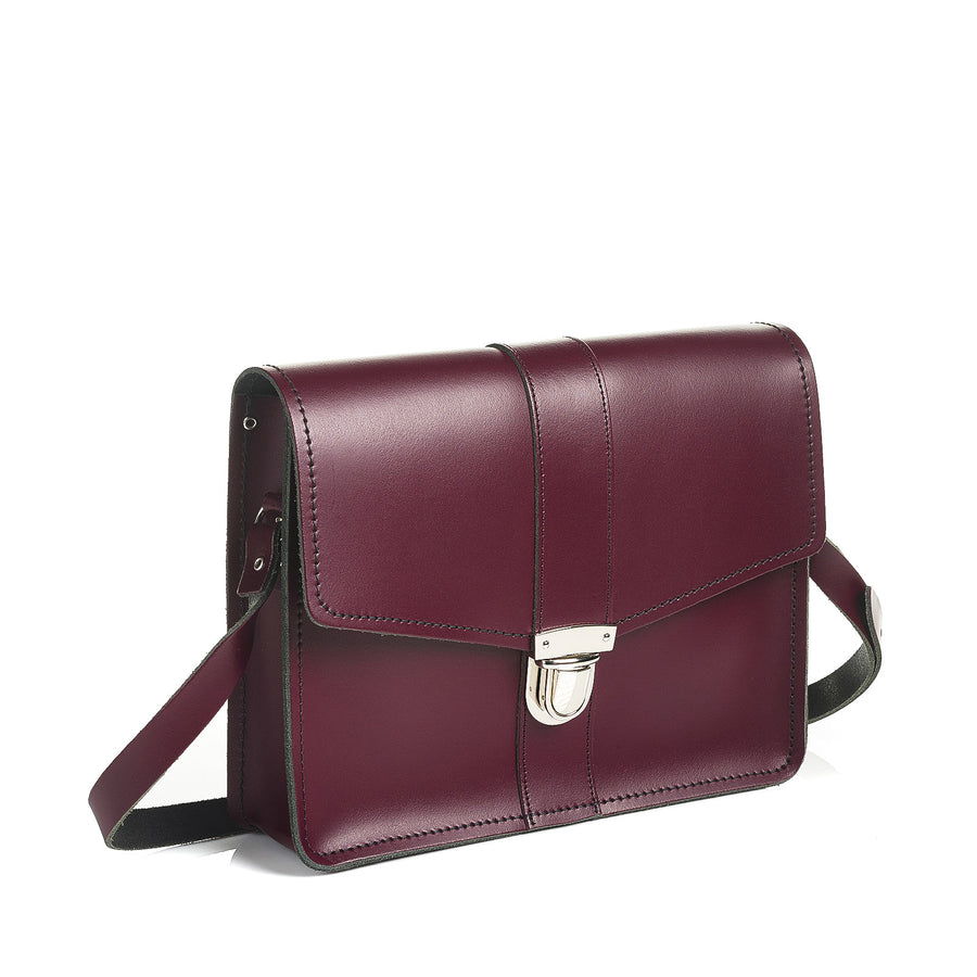 Marsala Red Leather Shoulder Bag