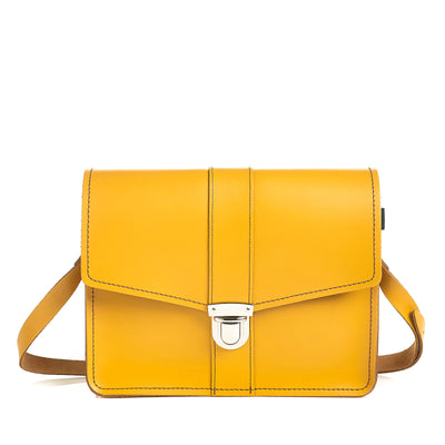 Yellow Ochre Leather Shoulder Bag