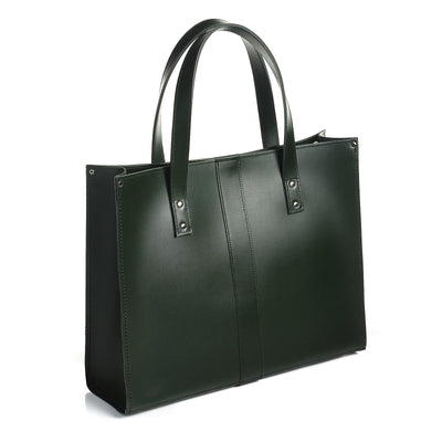 Ivy Green Leather Shopper