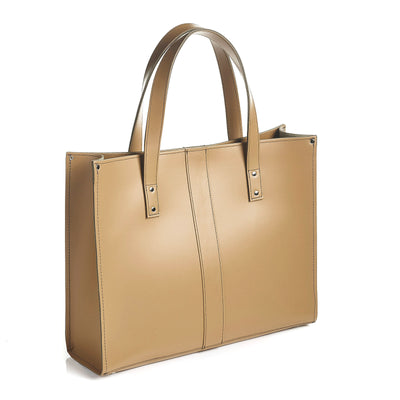Iced Coffee Leather Shopper