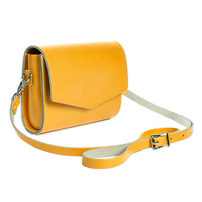 Yellow Ochre Leather Clutch