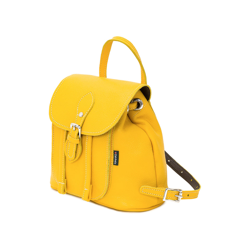 Aspen Yellow Leather Backpack