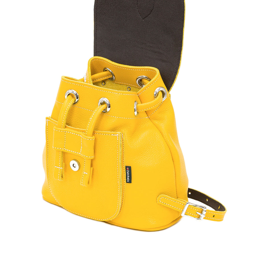 Aspen Yellow Leather Backpack - Backpack - Zatchels