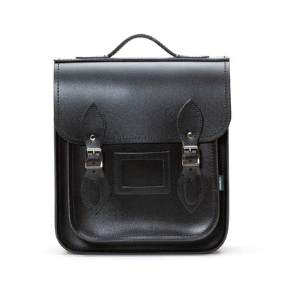 Black Leather City Backpack