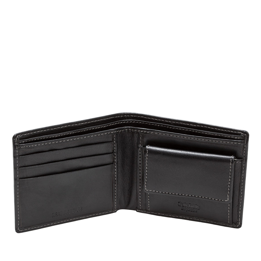 Black Leather Bifold Wallet - Accessories - Zatchels