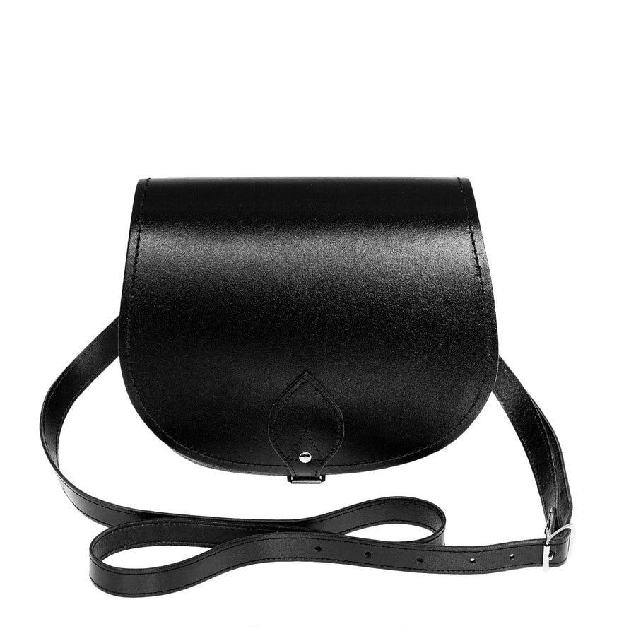 Black Leather Saddle Bag