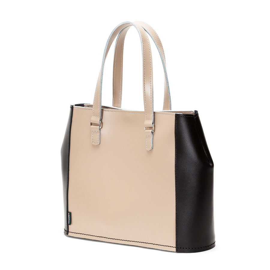 Cafe Noir Leather Tote Bag