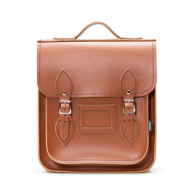 Chestnut Leather City Backpack
