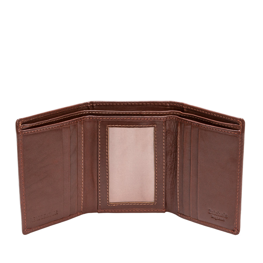 Chestnut Leather Trifold Wallet - Accessories - Zatchels