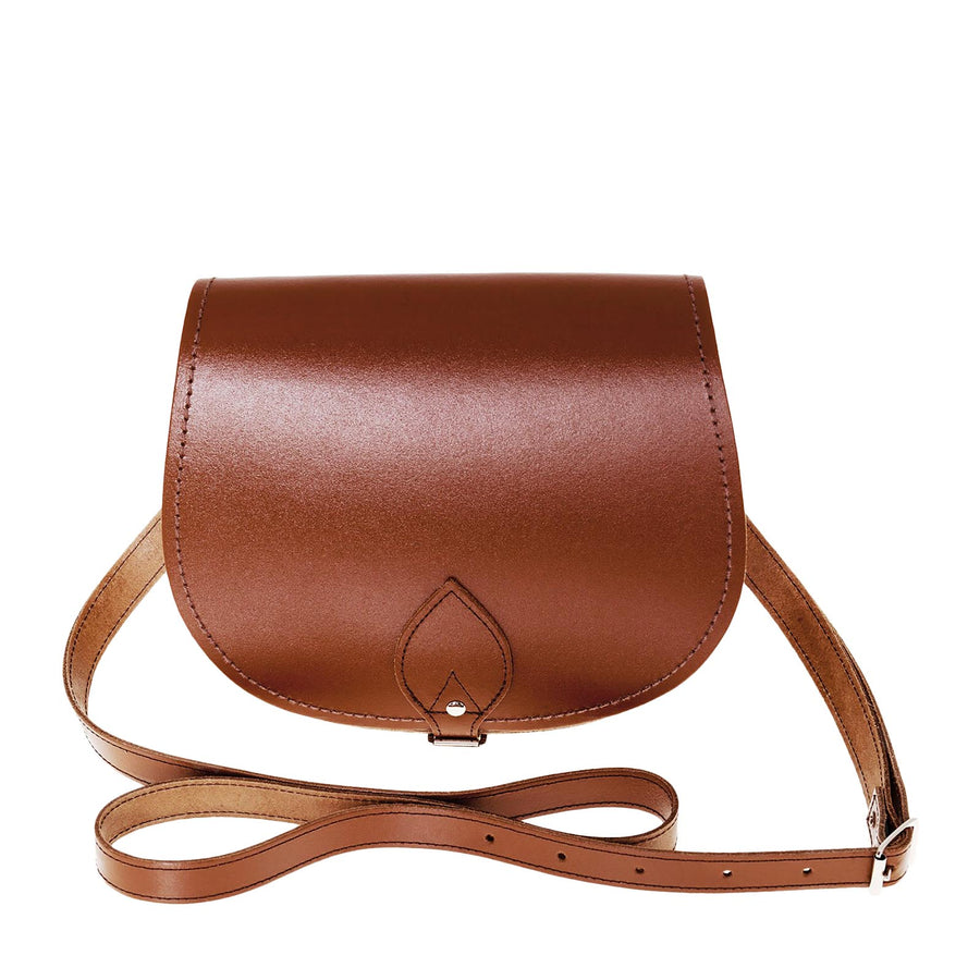 Chestnut Leather Saddle Bag